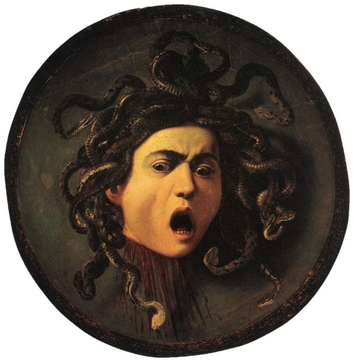 Gorgons were mythological monsters whose hair were snakes.
